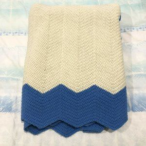 Large Double Bed Tight Knit Throw Granny Blanket